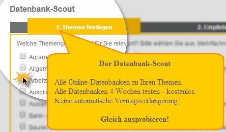 Zum Datenbank-Scout